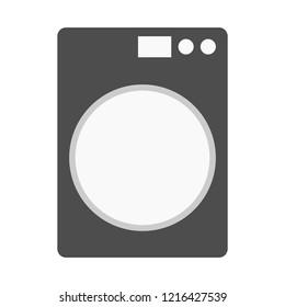 washing machine on white background; vector illustration