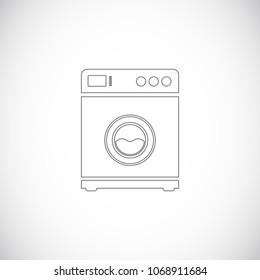 washing machine outline icon