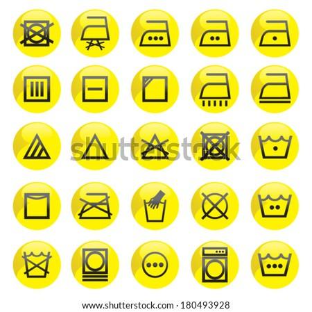 Washing Machine Symbols Stock Vector Royalty Free 180493928