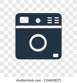 Washing machine vector icon isolated on transparent background, Washing machine transparency logo concept