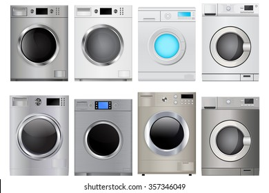 Washing machine. Vector isolated on white background.