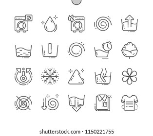 Washing machine Well-crafted Pixel Perfect Vector Thin Line Icons 30 2x Grid for Web Graphics and Apps. Simple Minimal Pictogram
