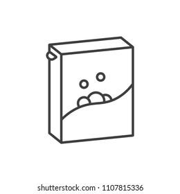 Washing powder, laundry soap line icon.