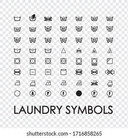 Washing symbols for clothes. Washing machine symbols for washing clothes. Washing instructions.