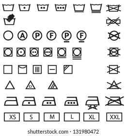 washing,laundry icons set