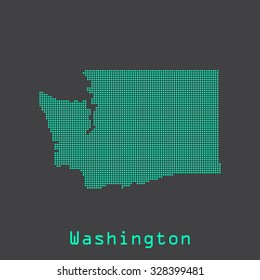Washington abstract dots state map. Dotted style. Vector illustration EPS8