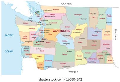 washington administrative map