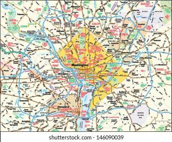 Washington, DC area map