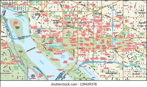 Washington, DC downtown map