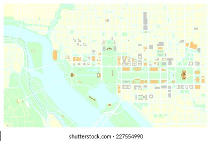 Washington Dc Map Images Stock Photos Vectors Shutterstock