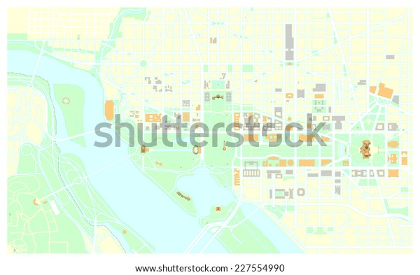 Washington Dc Map Stock Vector (Royalty Free) 227554990