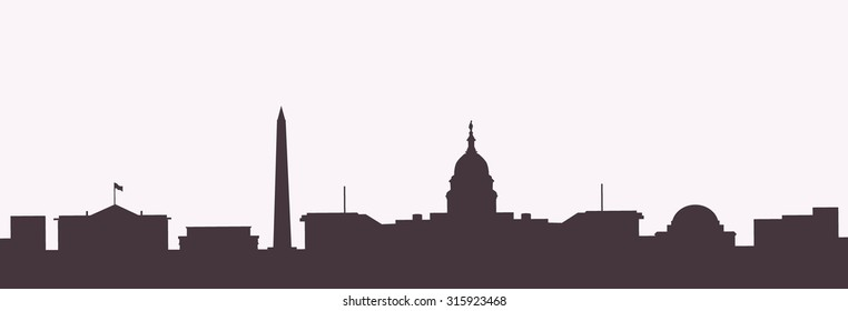 Washington dc  Morning City skyline