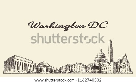 Washington DC skyline USA