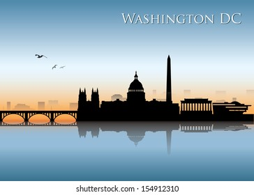 Washington D.C. skyline - vector illustration