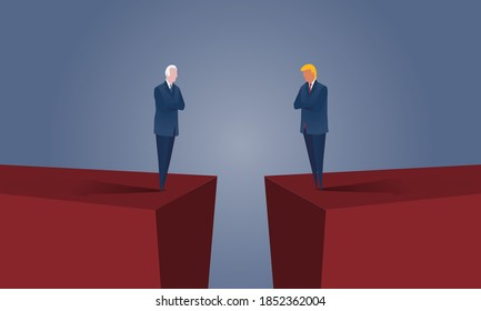 WASHINGTON, DC / USA - NOVEMBER 3, 2020:  The United States elections end with a whimper as the current administration challenges election results with lawsuits. Next will be the transition of power.