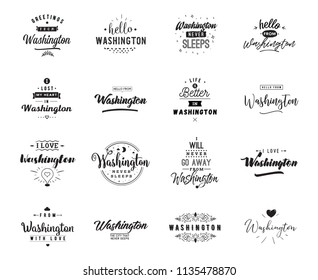 greeting cards vector design isolated logos typography set
