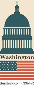 Washington icon background