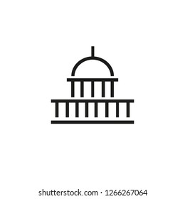 Washington line icon. Capitol, congress, DC. Landmarks concept. Can be used for topics like USA, capital, government