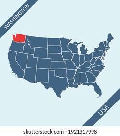 Washington location on USA map