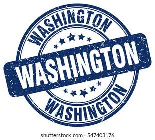 Washington. stamp. blue round grunge vintage Washington sign