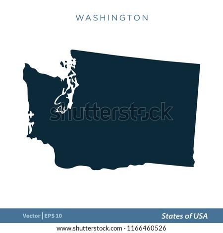 Washington States US Map Icon Vector Stock Vector (Royalty Free ...