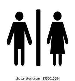 Washroom Lady Gentleman Sign Vector