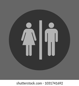 washroom sign icon