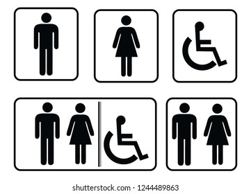 washroom sign - restroom sign