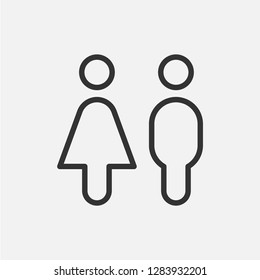 Washroom or toilet. Simple vector icon