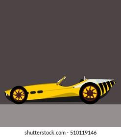wasp car competition, spider vector car, cabriolet