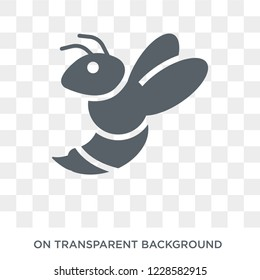 Wasp icon. Trendy flat vector Wasp icon on transparent background from animals  collection. High quality filled Wasp symbol use for web and mobile