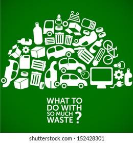waste, dump, junkyard - ecology background / waste treatment