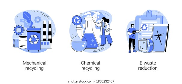 Waste management abstract concept vector illustrations.