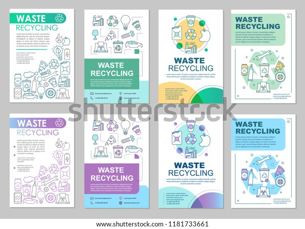 Waste Management Brochure Template Layout Trash Stock Vector