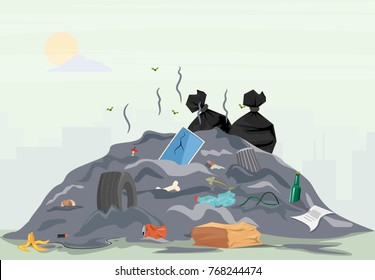 Waste pile that have been disposed improperly