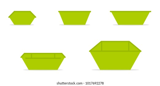 Waste skip bin icon. Clipart image isolated on white background