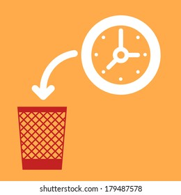 wastebasket and a  Clock. Throw out   Clock