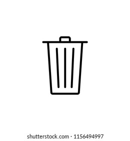 Wastebasket vector icon. Trash bin icon