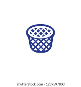 Wastebasket vector isolated icon