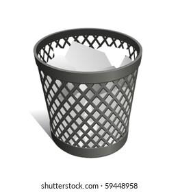 Wastepaper Basket black full