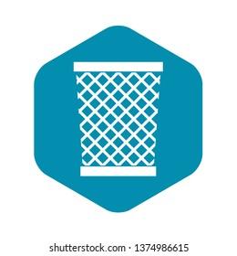 Wastepaper basket icon. Simple illustration of wastepaper basket vector icon for web