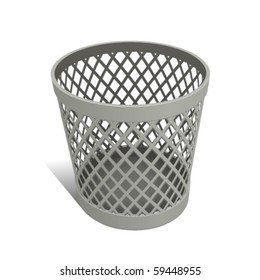 Wastepaper Basket white