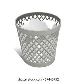Wastepaper Basket white full