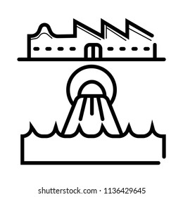 wastewater icon vector