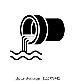 Wastewater icon, vector illustration