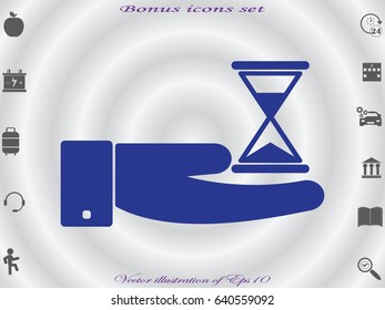 watch in hand, icon, vector illustration eps10