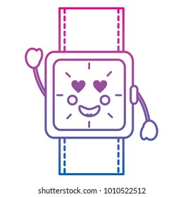 watch with heart eyes kawaii icon image