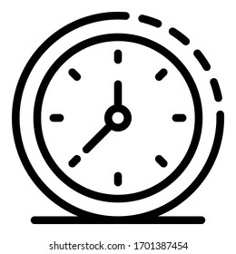 Watch hour icon. Outline watch hour vector icon for web design isolated on white background