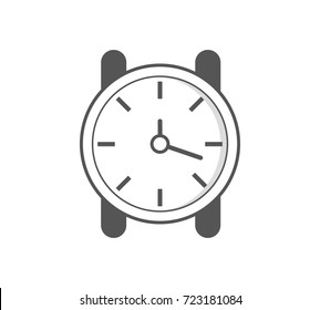 Watch icon. Stopwatch / stop watch timer flat icon for apps and websites. Vector illustration.
