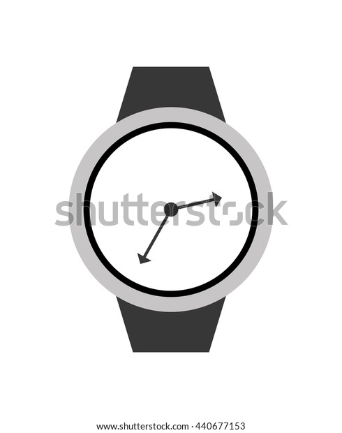Watch icon. Time design. vector graphic